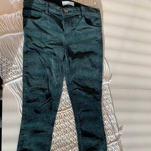 LOFT COURUROY DARK GREEN SKINNY LEGGED PANTS